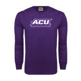 Abilene Christian Purple Long Sleeve T Shirt-Track & Field
