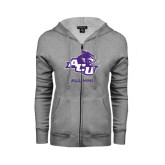 Abilene Christian Ladies Grey Fleece Full Zip Hoodie-Alumni