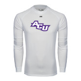 ACU Wildcat Under Armour White Long Sleeve Tech Tee-Angled ACU