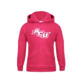 Youth Raspberry Fleece Hoodie-Angled ACU