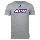 ACU Wildcat Adidas Sport Grey Logo T Shirt-ACU