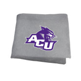 ACU Wildcat Grey Sweatshirt Blanket-Angled ACU w/Wildcat Head