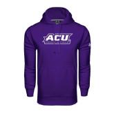Under Armour Purple Performance Sweats Team Hoodie-Track & Field