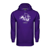 Under Armour Purple Performance Sweats Team Hoodie-Dad