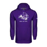 Under Armour Purple Performance Sweats Team Hoodie-Grandpa
