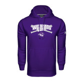 Under Armour Purple Performance Sweats Team Hoodie-Baseball Crossed Bats Design