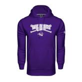 Under Armour Purple Performance Sweats Team Hoodie-Baseball Crossed Bats Design
