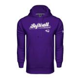 Under Armour Purple Performance Sweats Team Hoodie-Softball Script w/ Bat Design