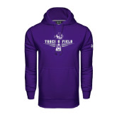 Under Armour Purple Performance Sweats Team Hoodie-Track and Field Shoe Design