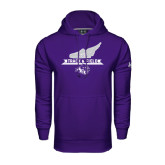 Under Armour Purple Performance Sweats Team Hoodie-Track and Field Side Shoe Design