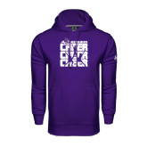Under Armour Purple Performance Sweats Team Hoodie-Cheer, Cheer, Cheer