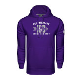 Under Armour Purple Performance Sweats Team Hoodie-Cross Country Design