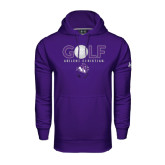 Under Armour Purple Performance Sweats Team Hoodie-Golf Ball Design