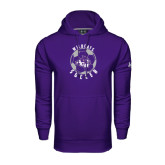 Under Armour Purple Performance Sweats Team Hoodie-Soccer Ball Design