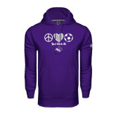 Under Armour Purple Performance Sweats Team Hoodie-Just Kick It Soccer Design