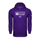 Under Armour Purple Performance Sweats Team Hoodie-Tennis Player Design