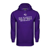 Under Armour Purple Performance Sweats Team Hoodie-Can You Dig It - Volleyball
