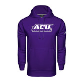 Under Armour Purple Performance Sweats Team Hoodie-Athletics