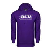 Under Armour Purple Performance Sweats Team Hoodie-Athletics