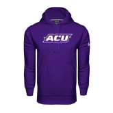 Under Armour Purple Performance Sweats Team Hoodie-ACU