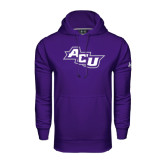 Under Armour Purple Performance Sweats Team Hoodie-Angled ACU