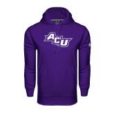 Under Armour Purple Performance Sweats Team Hoodie-Angled ACU