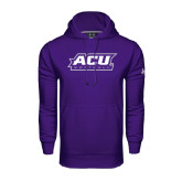 ACU Wildcat Under Armour Purple Performance Sweats Team Hoodie-Softball