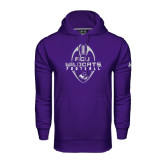 Under Armour Purple Performance Sweats Team Hoodie-Tall Football Design
