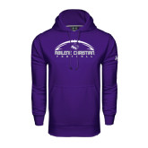 Under Armour Purple Performance Sweats Team Hoodie-Wide Football Design