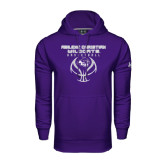 ACU Wildcat Under Armour Purple Performance Sweats Team Hoodie-Design On Basketball