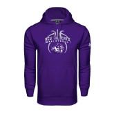 Under Armour Purple Performance Sweats Team Hoodie-Design On Basketball