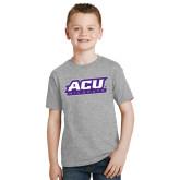ACU Wildcat Youth Grey T-Shirt-ACU Wildcats