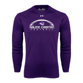 ACU Wildcat Under Armour Purple Long Sleeve Tech Tee-Wide Football Design