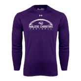 ACU Wildcat Under Armour Purple Long Sleeve Tech Tee-Wide Football Design