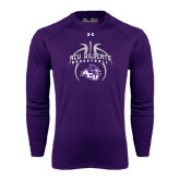 ACU Wildcat Under Armour Purple Long Sleeve Tech Tee-Design On Basketball