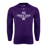 ACU Wildcat Under Armour Purple Long Sleeve Tech Tee-Track and Field Shoe Design