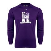 Under Armour Purple Long Sleeve Tech Tee-Go Fight Win
