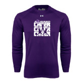 ACU Wildcat Under Armour Purple Long Sleeve Tech Tee-Cheer, Cheer, Cheer