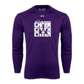 Under Armour Purple Long Sleeve Tech Tee-Cheer, Cheer, Cheer