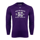 Under Armour Purple Long Sleeve Tech Tee-Cross Country Design