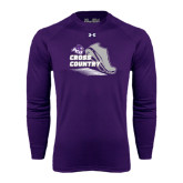 ACU Wildcat Under Armour Purple Long Sleeve Tech Tee-Cross Country Shoe Design