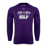 Under Armour Purple Long Sleeve Tech Tee-Tee Off Golf Design
