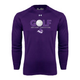 ACU Wildcat Under Armour Purple Long Sleeve Tech Tee-Golf Ball Design