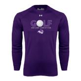 ACU Wildcat Under Armour Purple Long Sleeve Tech Tee-Golf Ball Design