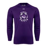 ACU Wildcat Under Armour Purple Long Sleeve Tech Tee-Soccer Ball Design