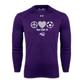 Under Armour Purple Long Sleeve Tech Tee-Just Kick It Soccer Design