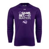 Under Armour Purple Long Sleeve Tech Tee-Game Set Match Tennis Design