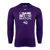 ACU Wildcat Under Armour Purple Long Sleeve Tech Tee-Game Set Match Tennis Design