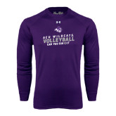 ACU Wildcat Under Armour Purple Long Sleeve Tech Tee-Can You Dig It - Volleyball