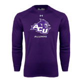 ACU Wildcat Under Armour Purple Long Sleeve Tech Tee-Alumni